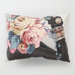 Black of flowers Pillow Sham