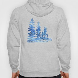 Magical winter forest Hoody