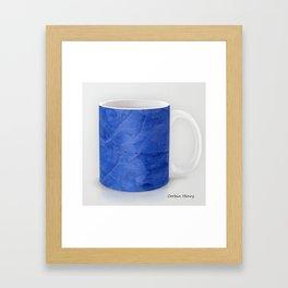 Deep Blue Stucco Coffee Mug Modern Art Print Framed Art Print