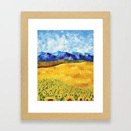 Sunflower Field of Provence France by Mike Kraus Framed Art Print