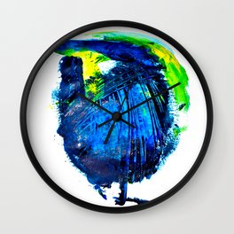 The sky is always more blue Wall Clock