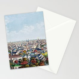 1877 Providence, Rhode Island Panoramic Portrait by Packard and Schwegler Stationery Cards
