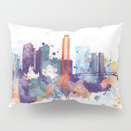 Colorful San Paulo skyline design Pillow Sham