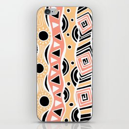 Four Waves - Black Orange Yellow iPhone Skin