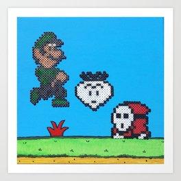 Luigi & A Shy Guy Art Print