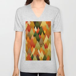 071 – deep into the autumn forest texture II Unisex V-Neck