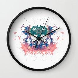 Inkdala VII (Rorschach) Wall Clock