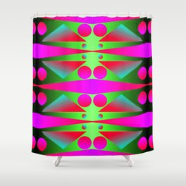 Light, dots, gradients and pattern ... Shower Curtain