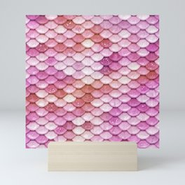Multicolor pink mermaid glitter scales - Mermaidscales Mini Art Print