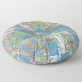 Color and Movement Abstract Art Floor Pillow
