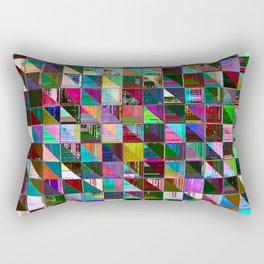 glitch color pattern Rectangular Pillow