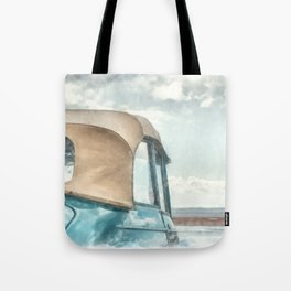 Vintage Car at the Beach Tote Bag