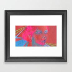 If Your Skull Was Fushia Framed Art Print