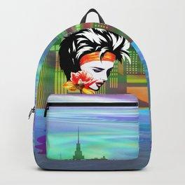 Metropolis Nostalgia Vaporwave Art Backpack
