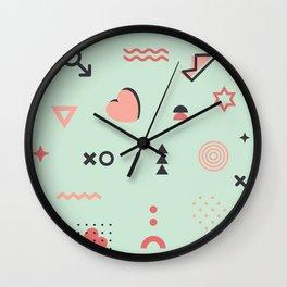 Valentines Geometric Wall Clock