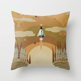 the adventure continues Throw Pillow
