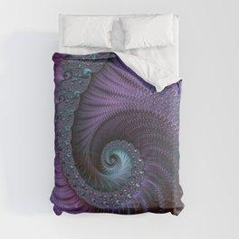 Fantastic Fractal Fantasies Purple And Teal Comforters