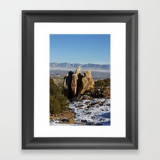 A Guarded Chill Framed Art Print