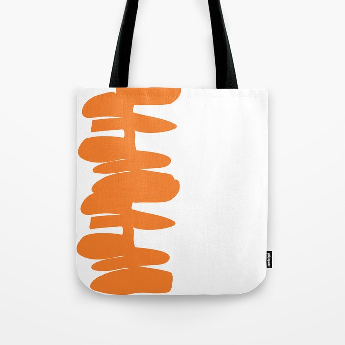 Stacked Up in Orange Tote Bag