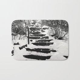 Snowy Stairs Bath Mat