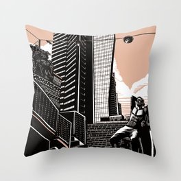 Lev TLV Pink Throw Pillow