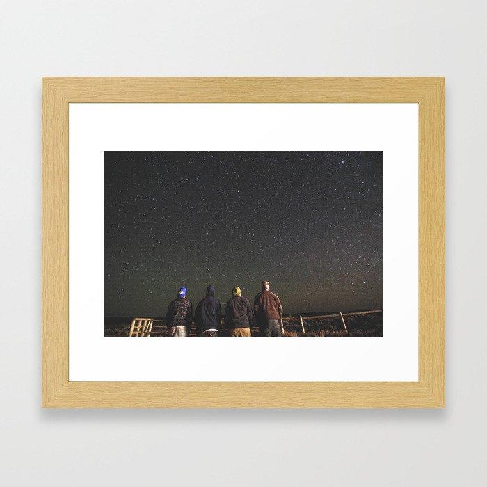Look up. Framed Art Print