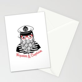 Captain & Hipster Stationery Cards