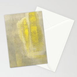 Stasis Gray & Gold 2 Stationery Cards
