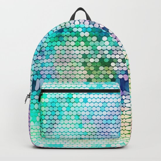 Fancy dots colorful abstract modern pattern Backpack