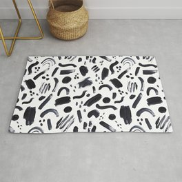 Abstract Brush Strokes Rug