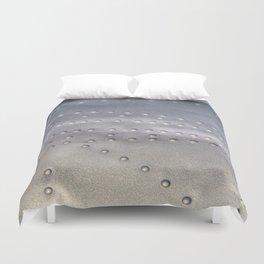 Aluminium Aircraft Skin Texture Duvet Cover