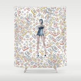 London Club Scene | Punk Rock Girl Shower Curtain