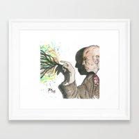 crowley Framed Art Prints featuring Mr. Crowley by Nicholas Dubay