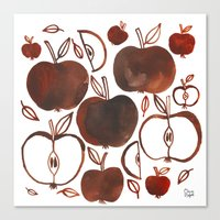 oana befort Canvas Prints featuring NOT GRANNY'S APPLES by Oana Befort