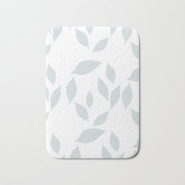 Autumn Leaves Pattern #7 #LightBlueGrey #White #foliage #decor #art #society6 Bath Mat