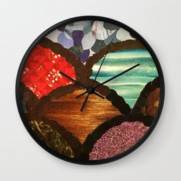 Circle Textures Wall Clock