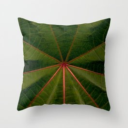 Center of the Leaf Throw Pillow