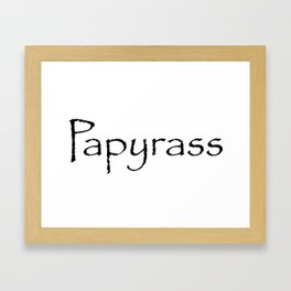 Papyrass Framed Art Print