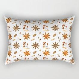 Winter brown orange berries floral illustration Rectangular Pillow