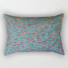 Turquoise tree Rectangular Pillow
