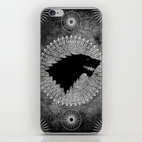 house stark iPhone & iPod Skins featuring House Stark by Micheal Calcara