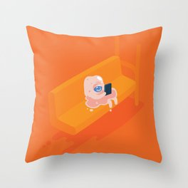 Globzilla! Throw Pillow