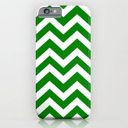 Green (HTML/CSS color) - green color - Zigzag Chevron Pattern iPhone Case