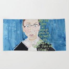 Ruth Bader Ginsberg Beach Towel