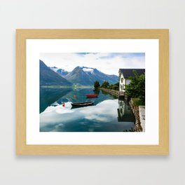Beautiful Hjelle, Norway Framed Art Print