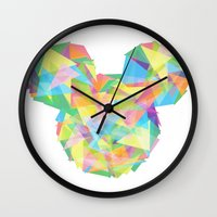 onesie Wall Clocks featuring Mickey's pieces  by Jarrah James
