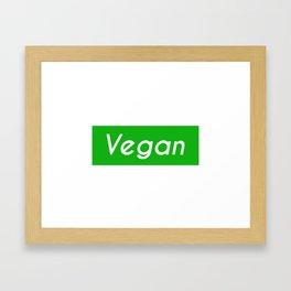 Vegan (green background) Framed Art Print