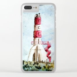 Strange Portuguese LightHouse Clear iPhone Case