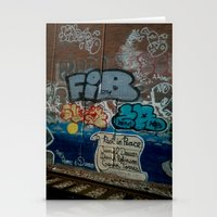 grafitti Stationery Cards featuring Grafitti Art by Lisa De Rosa-Essence of Life Photography