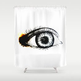 Looking In #1 - Original sketch to digital art Shower Curtain